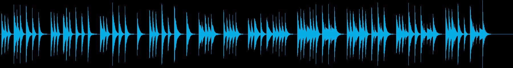 木琴の音色で作ったほのぼのとした短めの曲の再生済みの波形
