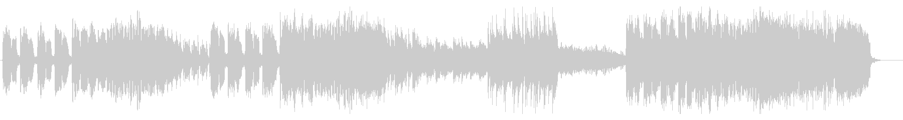 フルートとクラリネットによる軽快な音楽の未再生の波形
