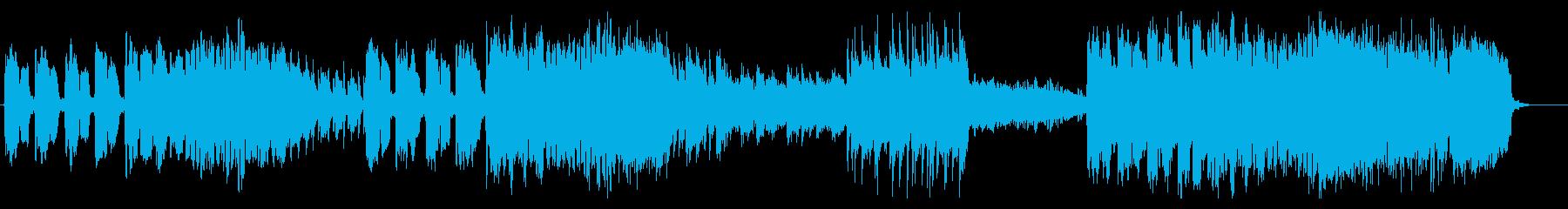 フルートとクラリネットによる軽快な音楽の再生済みの波形