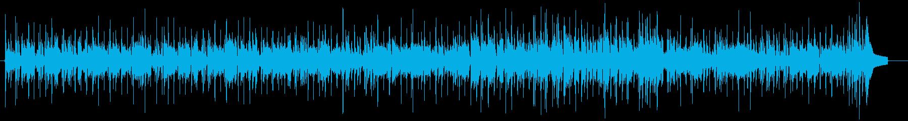 切ないR&BピアノBGMの再生済みの波形