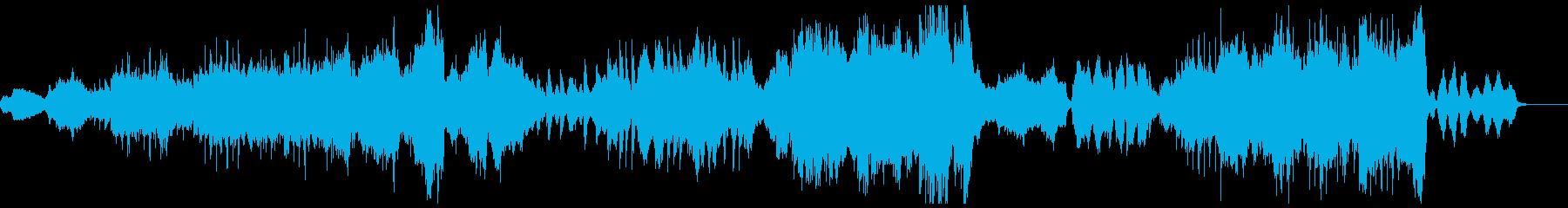 切ないピアノと弦楽器アンサンブルの再生済みの波形