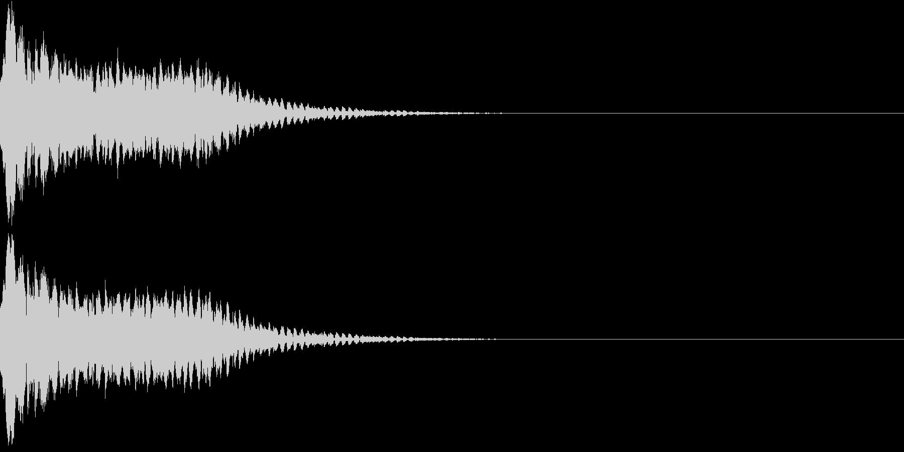 キュイン ボタン ピキーン キーン 35の未再生の波形