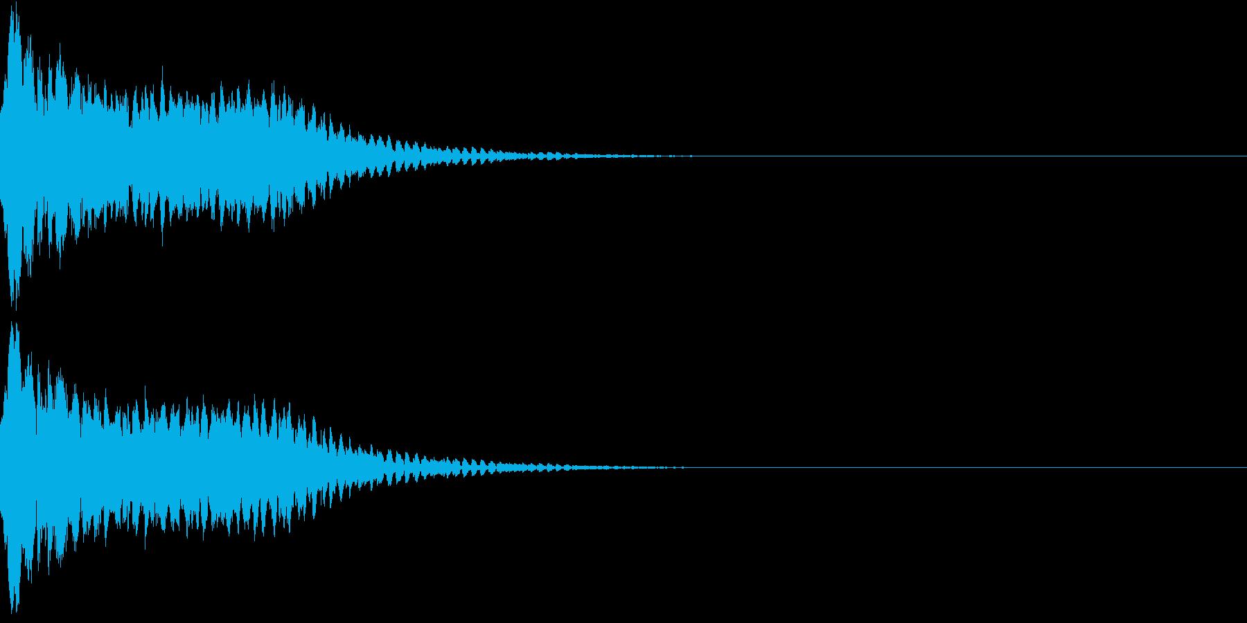 キュイン ボタン ピキーン キーン 35の再生済みの波形