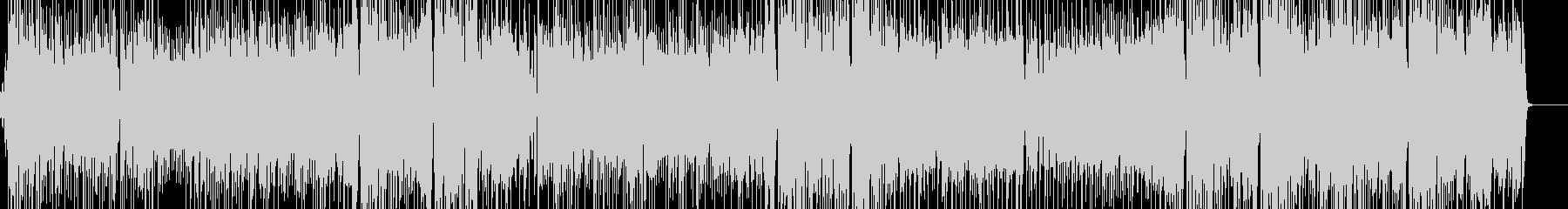 アップテンポでジャジーなポップスの未再生の波形