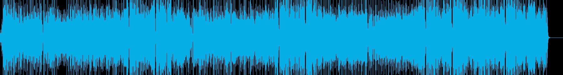 アップテンポでジャジーなポップスの再生済みの波形