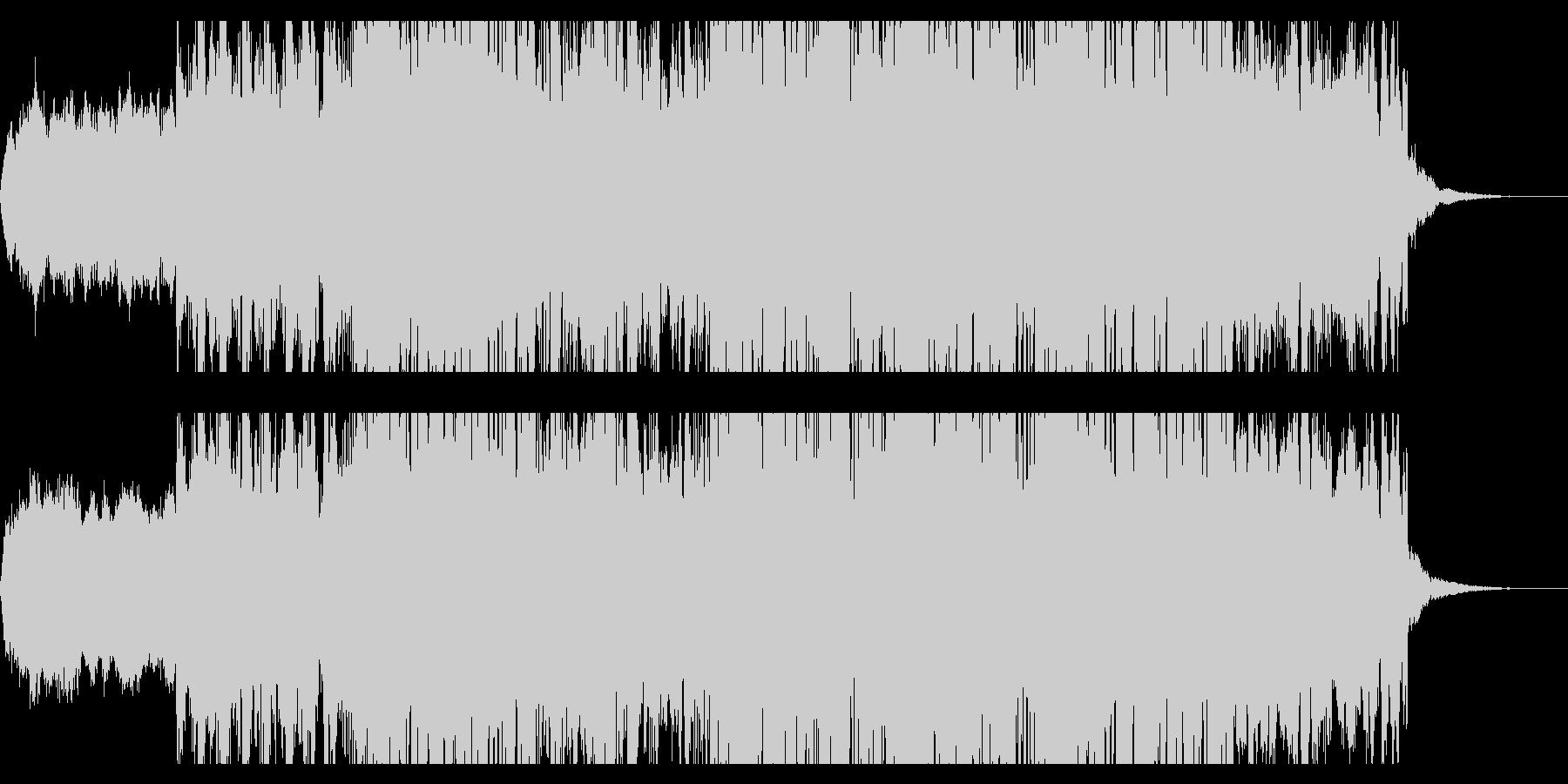 スペーシーなボイスグリッジIDMの未再生の波形