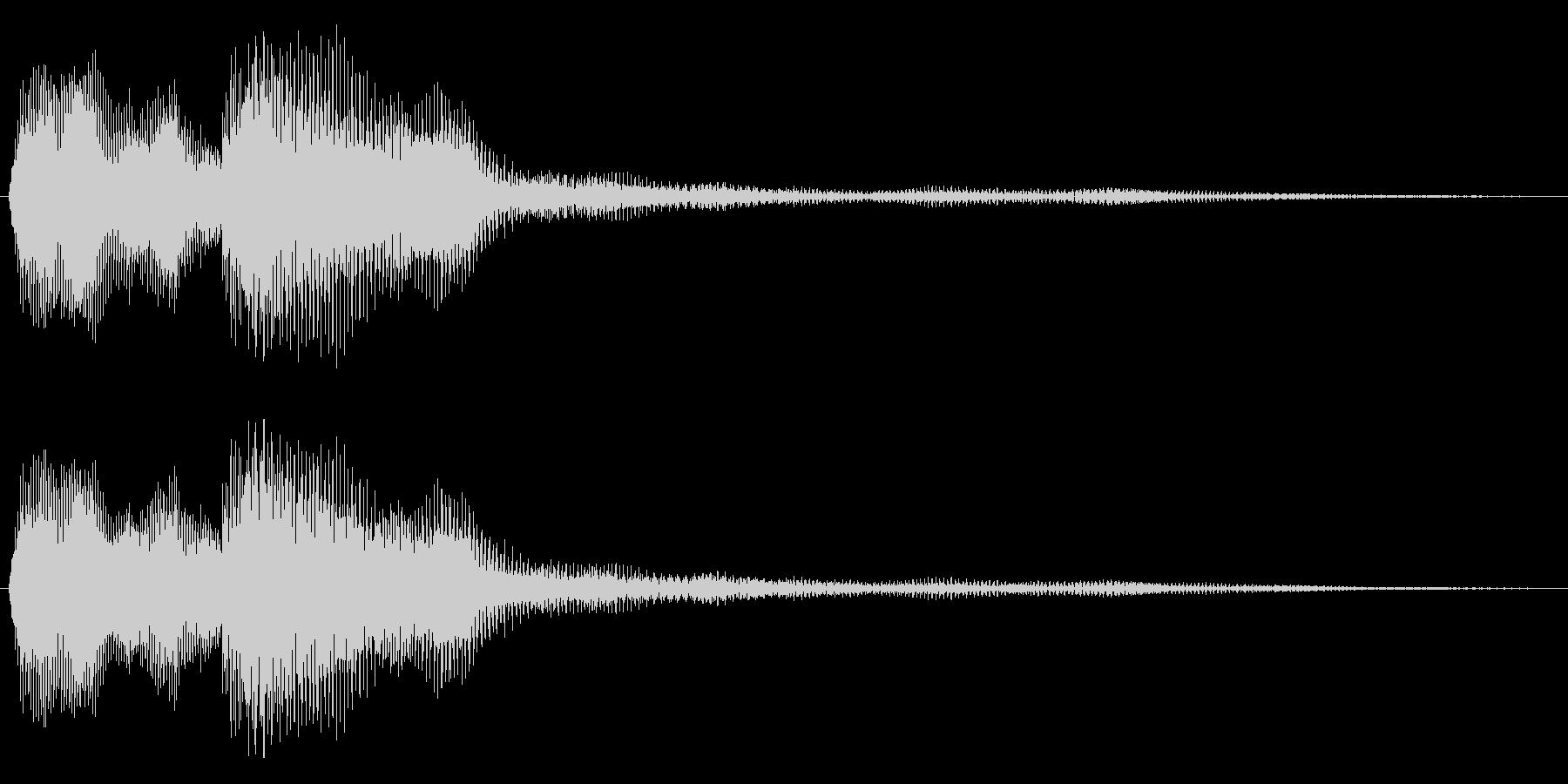 未来的空気感のある決定音の未再生の波形