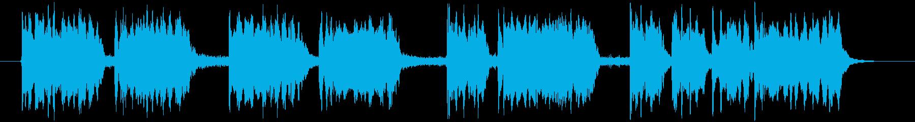 ブルズクォートとティンパニの再生済みの波形