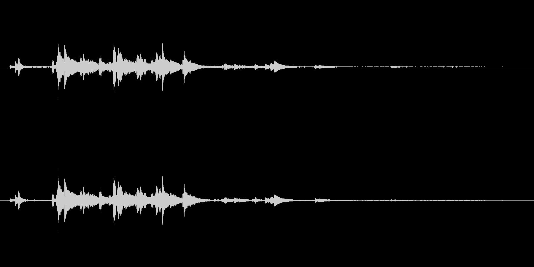 メタル 風鈴鳴る04の未再生の波形
