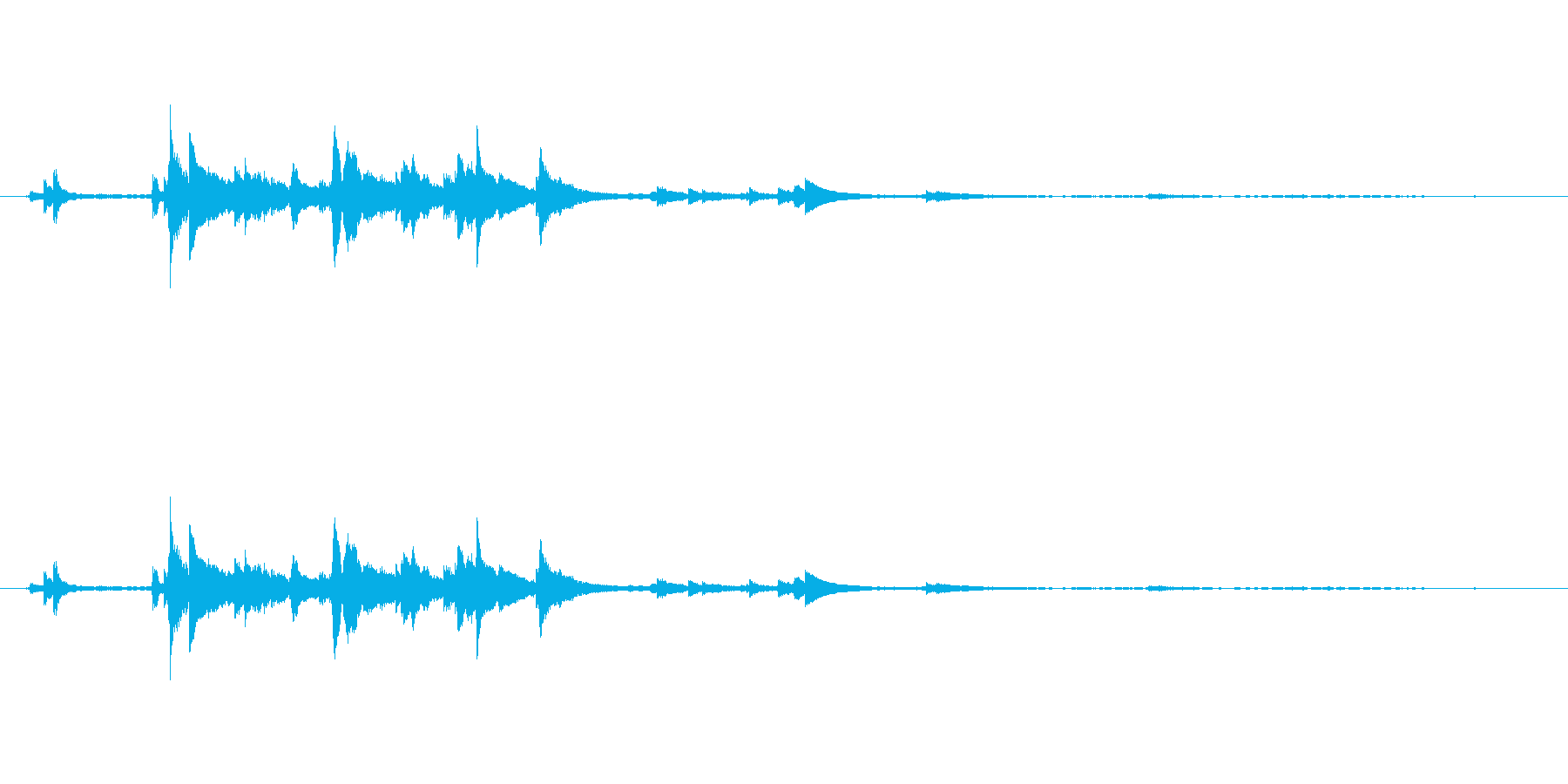 メタル 風鈴鳴る04の再生済みの波形