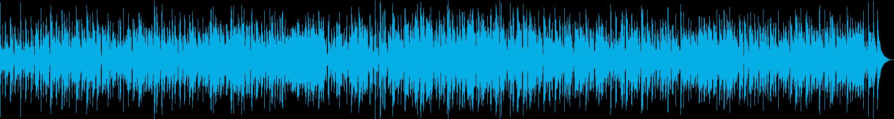 サックスとピアノのゆったりジャズバラードの再生済みの波形