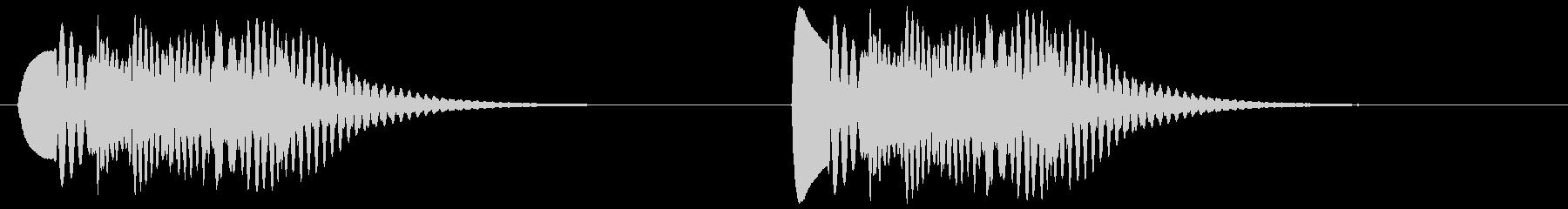 ピヨピヨ(ひよこ等、ゲーム風)の未再生の波形