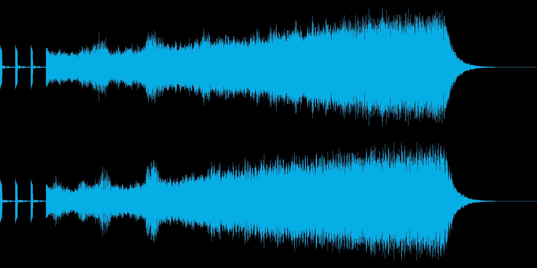 時報の後にオーケストラ音 正月 新年の再生済みの波形