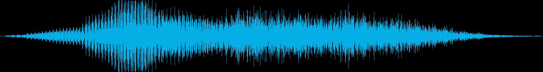 ミスの再生済みの波形