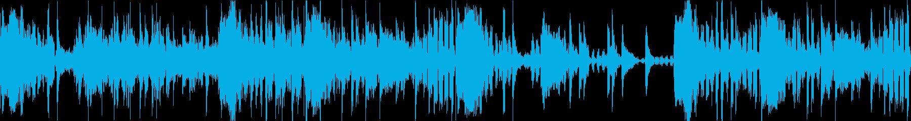 ディレイ空間音入りHIPHOPドラムの再生済みの波形
