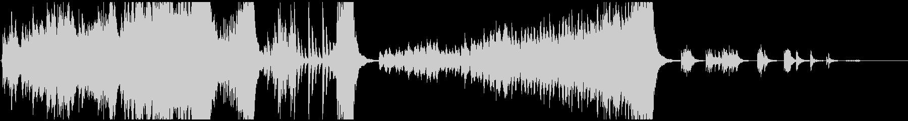 変拍子と転調のあるオーケストラ曲の未再生の波形