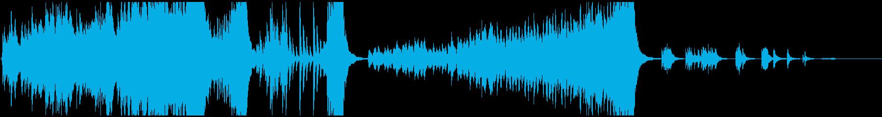 変拍子と転調のあるオーケストラ曲の再生済みの波形