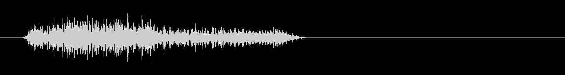 ゾンビやモンスターのダメージ時の声2の未再生の波形