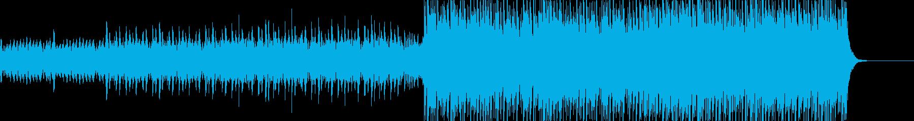 幻想的なジャングルのアフリカ音楽の再生済みの波形