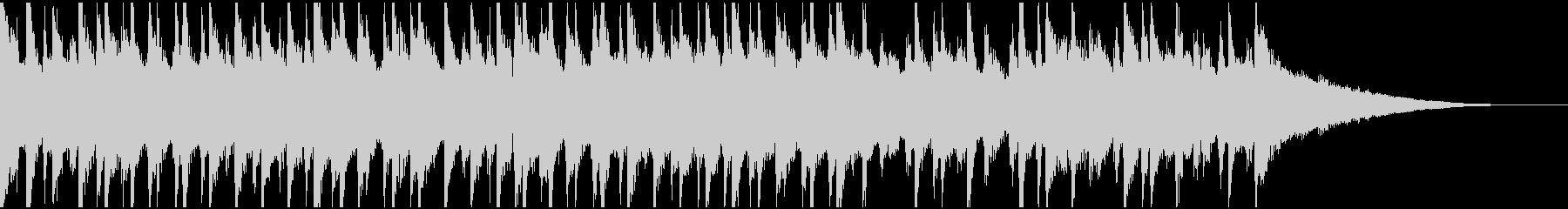 30秒ウクレレ、トイピアノの楽しい楽曲の未再生の波形