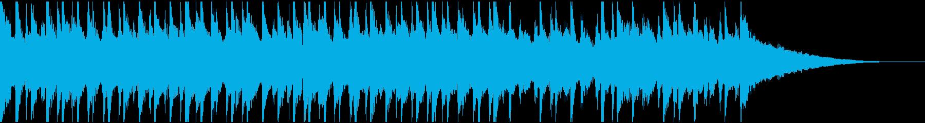 30秒ウクレレ、トイピアノの楽しい楽曲の再生済みの波形