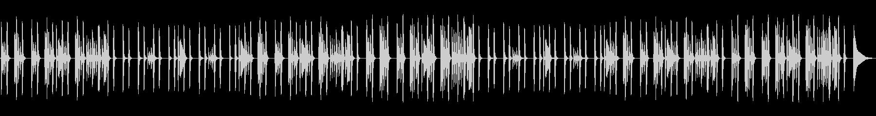 ピアノ・ほんわか・ルーティン・日常の未再生の波形
