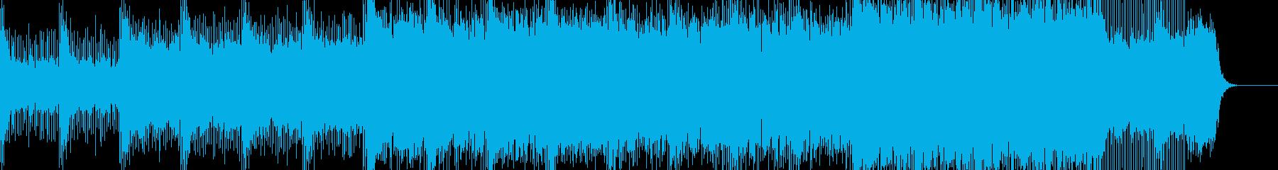 神秘的で異世界的な雰囲気のエレクトロニカの再生済みの波形