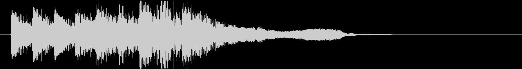 ピアノジングル/朝/発見/夜明け/企業の未再生の波形