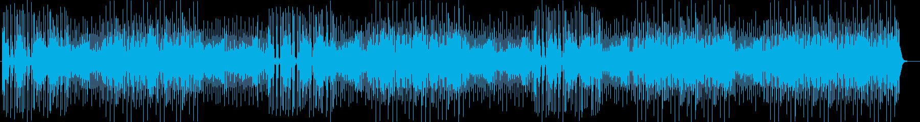 テンポの良いテクノミュージックの再生済みの波形