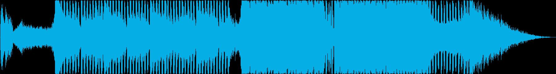 アイドルの登場曲を思わせる派手なテクノ系の再生済みの波形