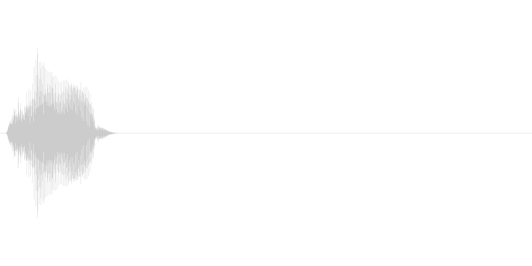 10(じゅっ)の未再生の波形