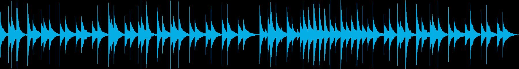 モーツアルト、ピアノソナタのオルゴールの再生済みの波形