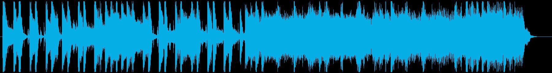 暖かなブルース調フュージョンBGMの再生済みの波形
