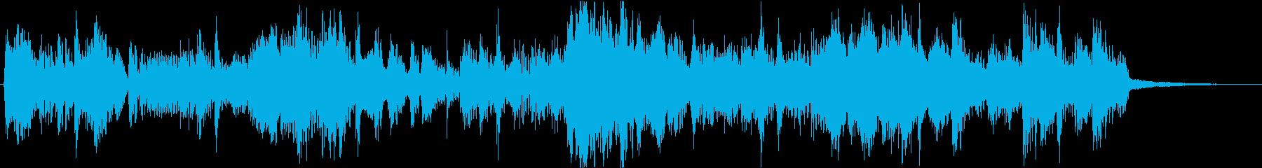 フルートメインなリズミカルな11秒楽曲の再生済みの波形