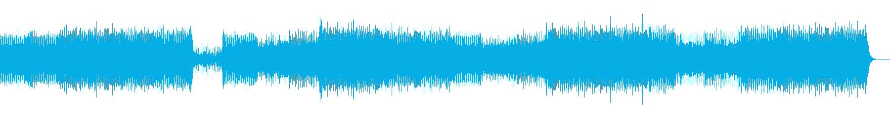 エネルギッシュで幻想的なハウスの再生済みの波形