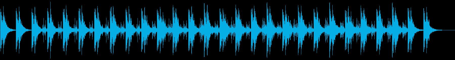 ミニマル系BGMの再生済みの波形