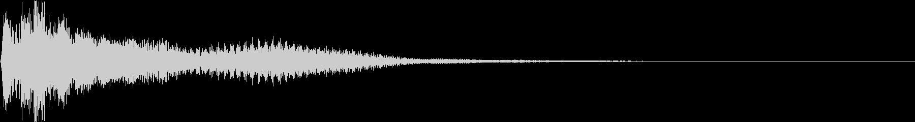 ピコン(お洒落で綺麗な閃きのピアノ)2の未再生の波形