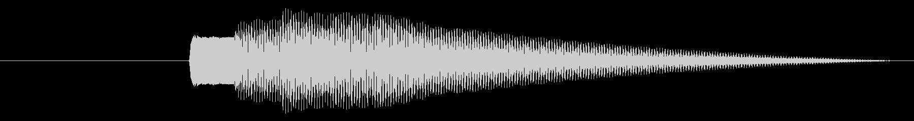 クイズで正解すると鳴るピンポンピンポン…の未再生の波形