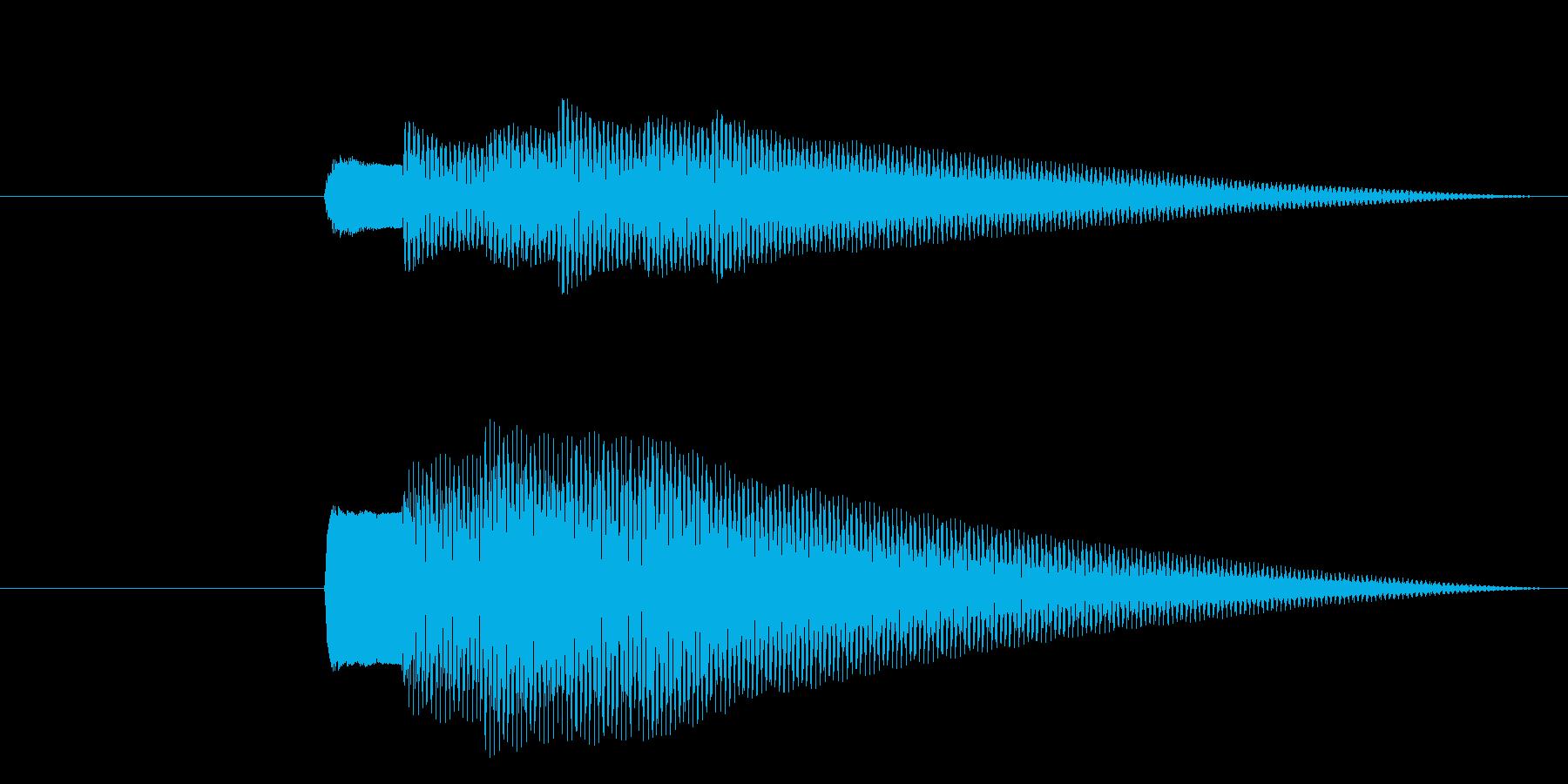 クイズで正解すると鳴るピンポンピンポン…の再生済みの波形