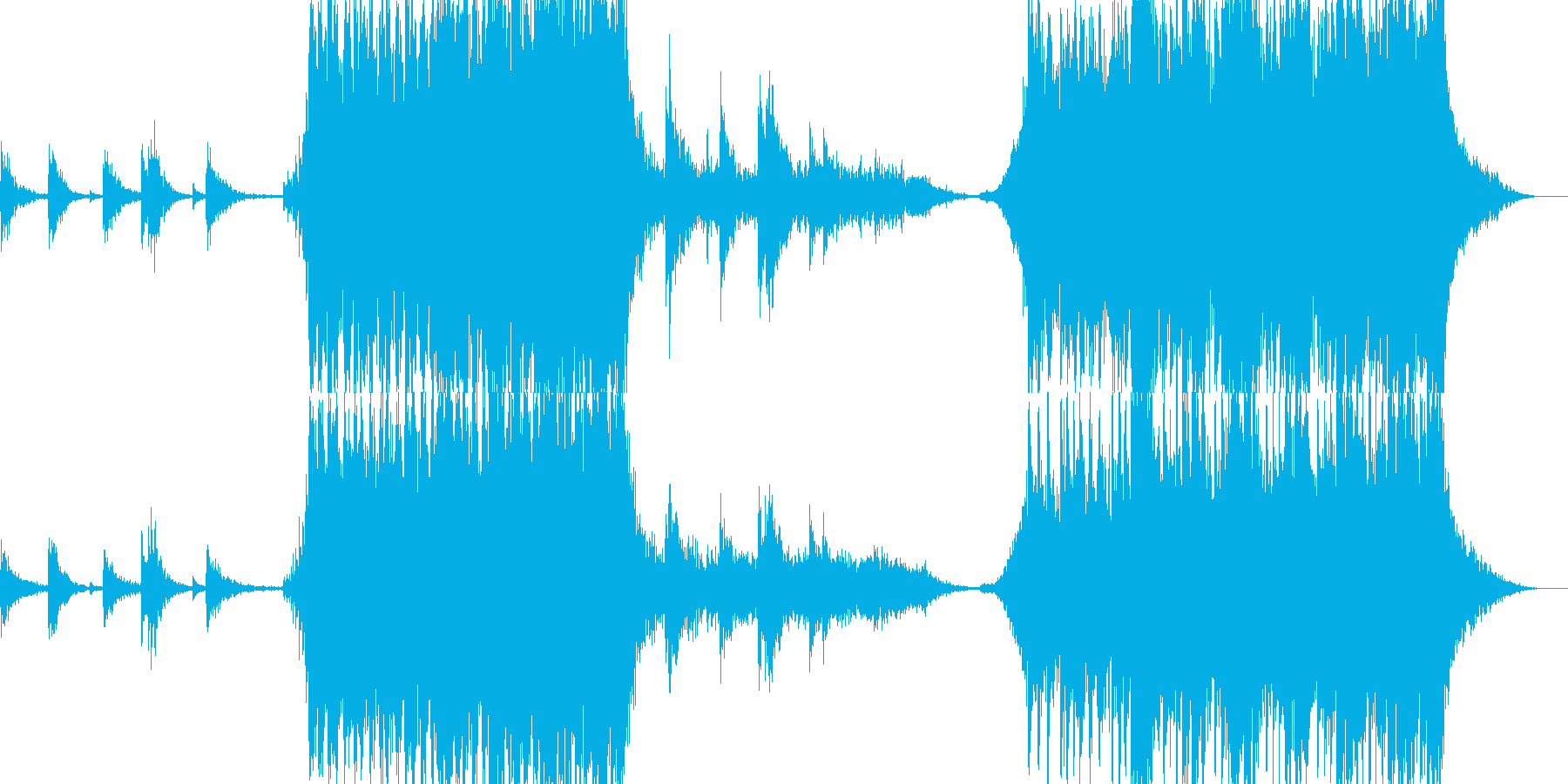 静と動の対比をパーカッション中心に表現の再生済みの波形