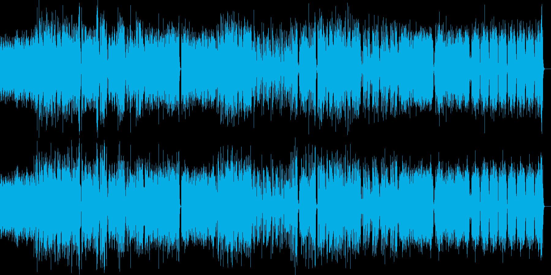 躍動感 おしゃれジャズグルーブ バンド風の再生済みの波形