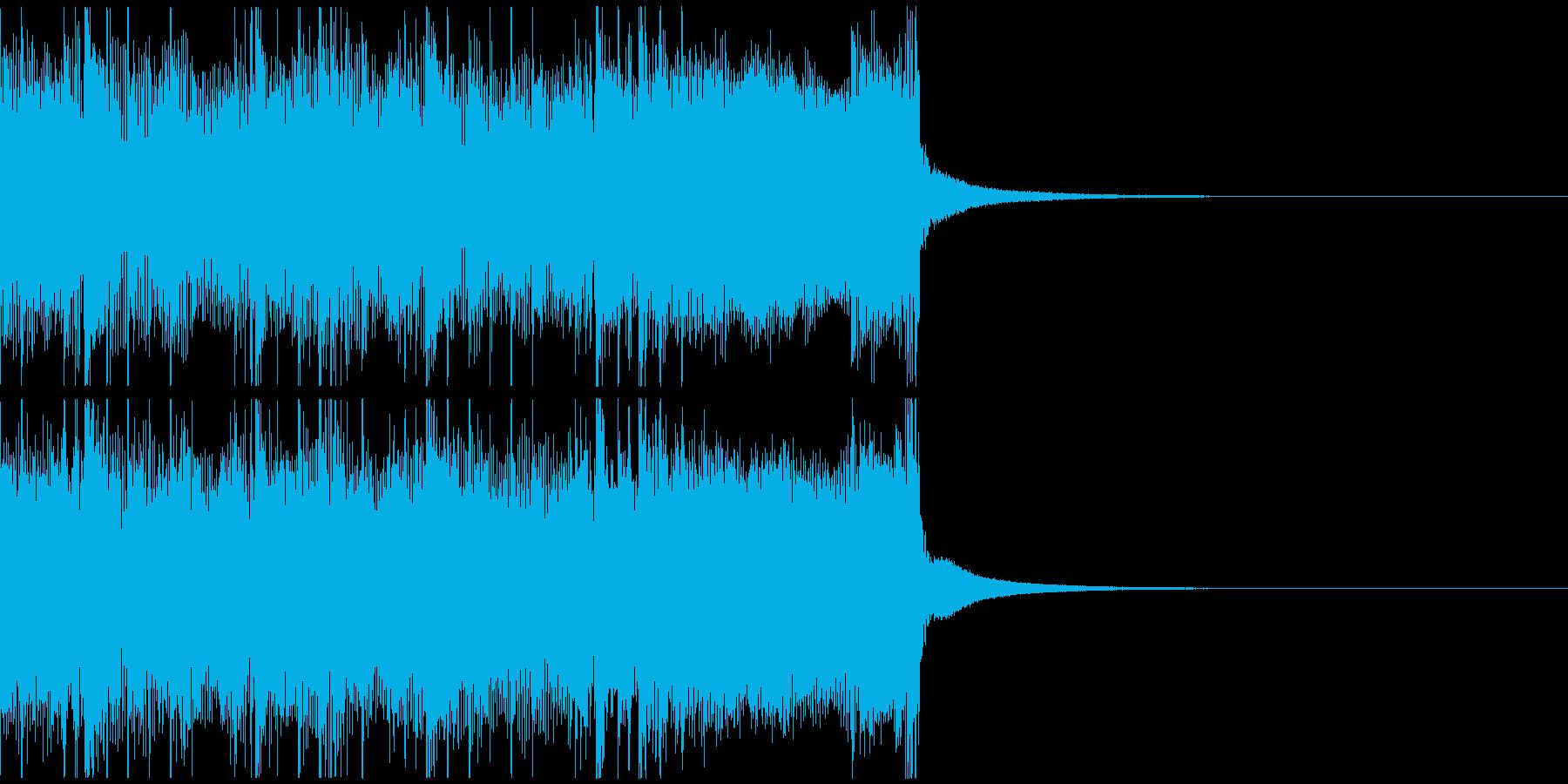攻撃的で凶悪な雰囲気のメタルジングルの再生済みの波形