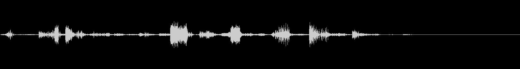 小型ロボットが喋っている音声の未再生の波形