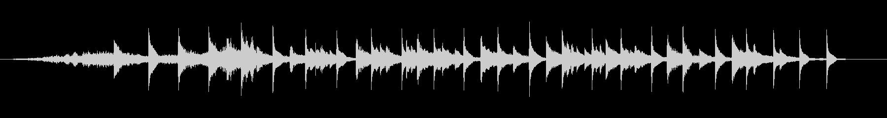 ローファイ・チル・ピアノ楽曲の未再生の波形