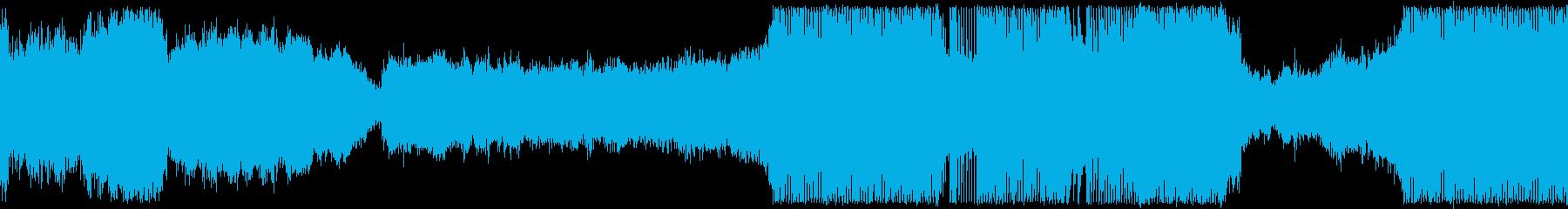 プログレッシブハウス。の再生済みの波形