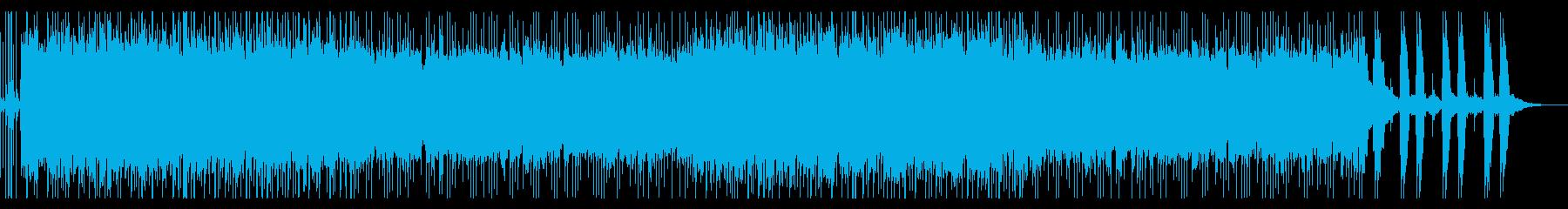 ゴツゴツした印象のメタルの再生済みの波形