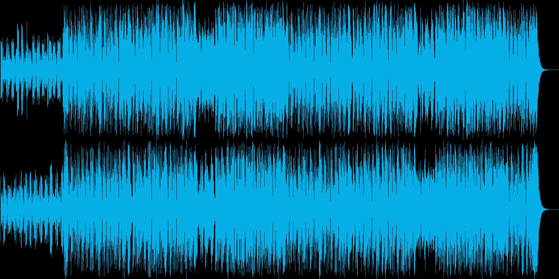 悪戯が失敗する間抜けでかわいいフルート曲の再生済みの波形