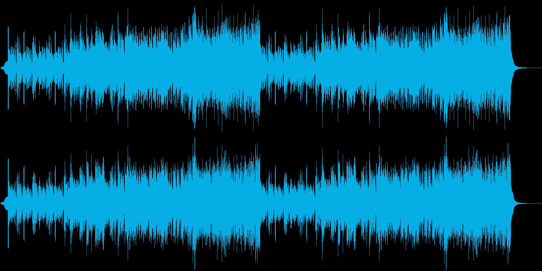 低音のリズムが気持ちいいBGMの再生済みの波形