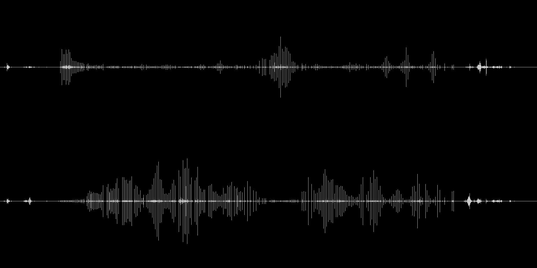 高音質バイノーラル録音 散髪の音の未再生の波形