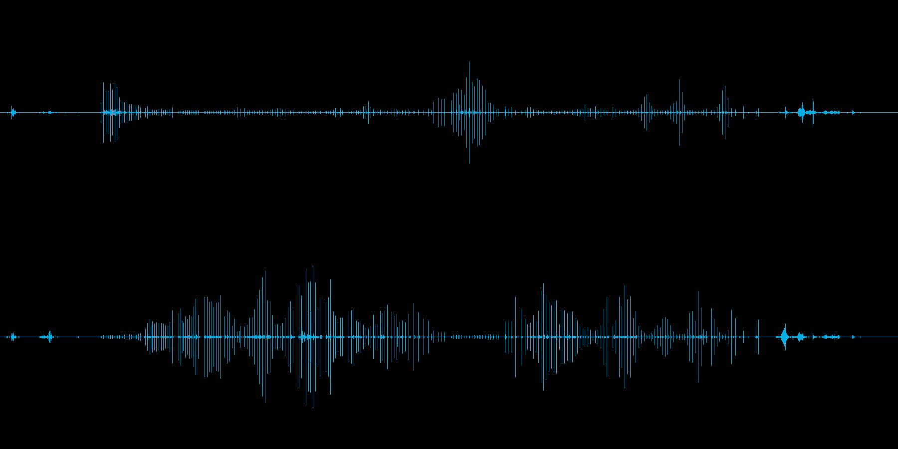 高音質バイノーラル録音 散髪の音の再生済みの波形
